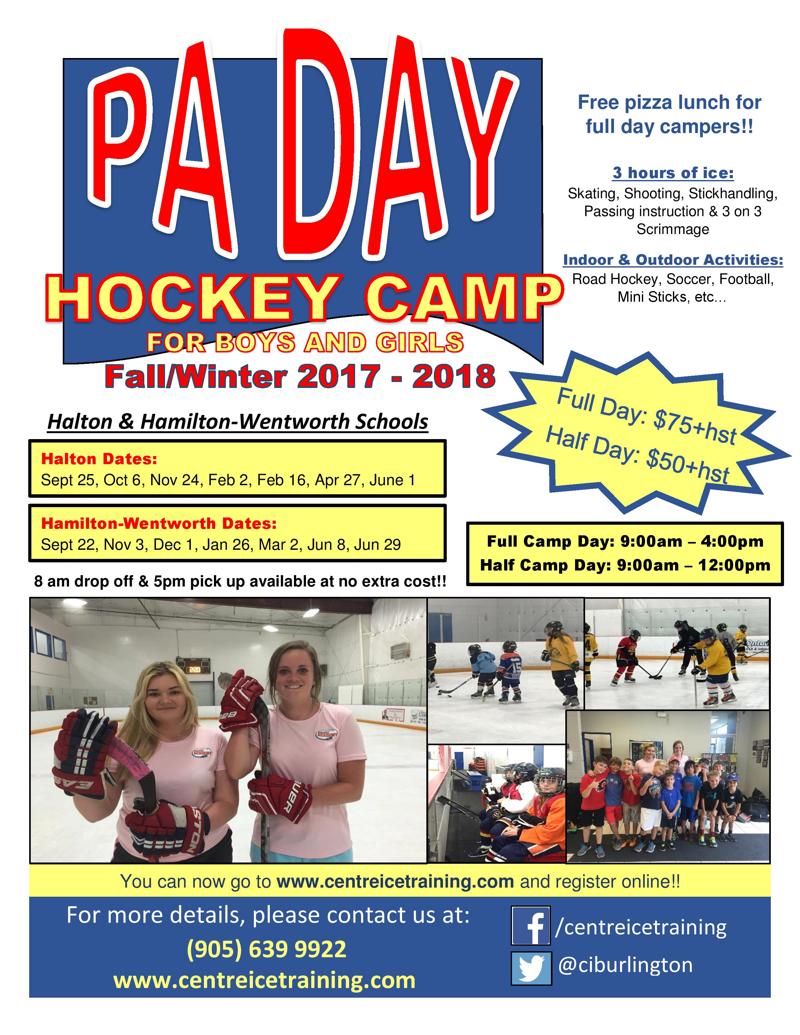 PA Day Hockey 2017/18 - Boys and Girls - Centre Ice