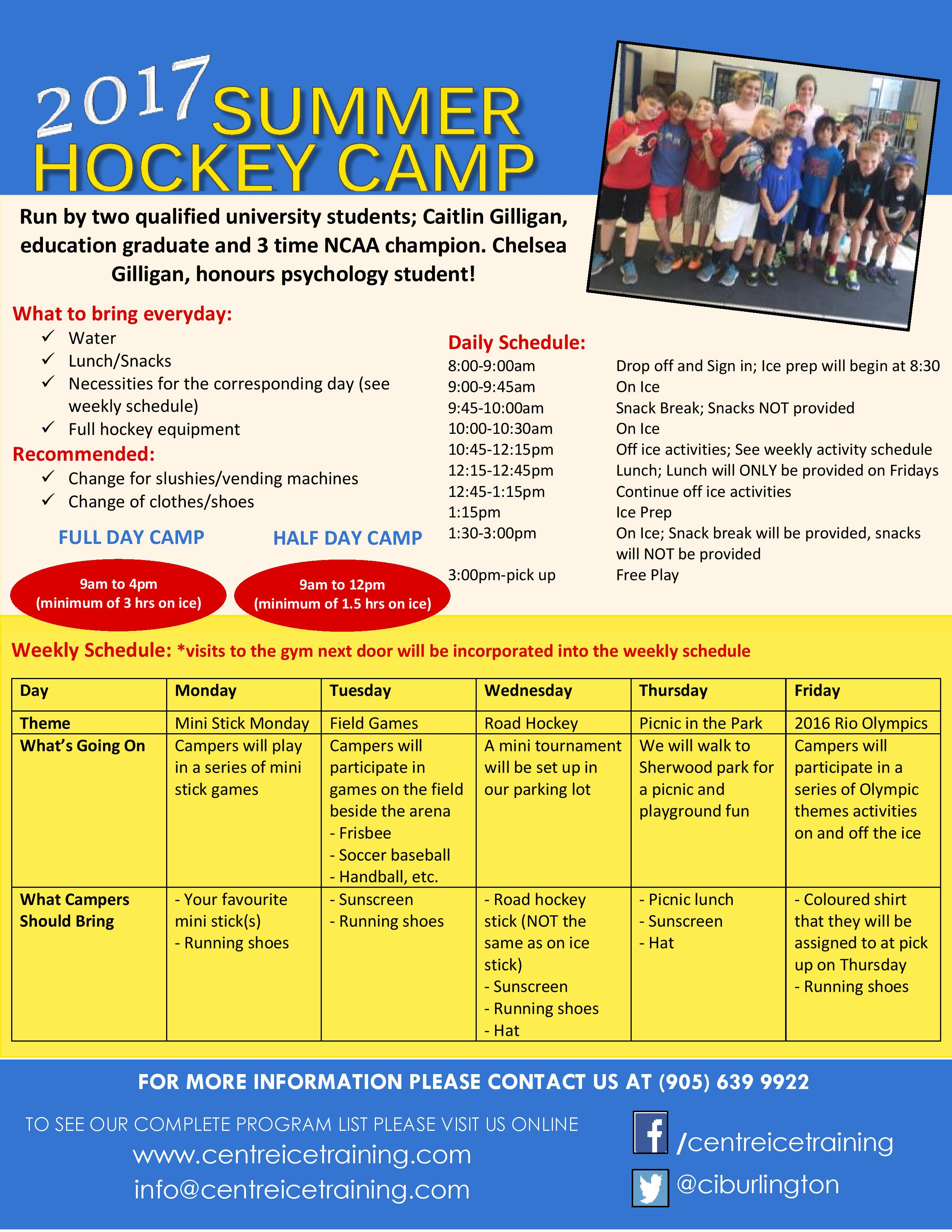 summer 2017 full  half day camps